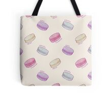 French Macaron Pattern - raspberry, pistachio, lemon & blueberry Tote Bag