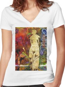 ROSEBUD The Angel of Sweet Songs Women's Fitted V-Neck T-Shirt