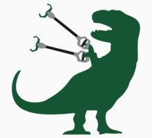 Unstoppable t rex geek funny nerd by idulzul