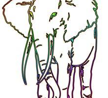 Rainbow Elephant Design by BluedarkArt