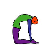 Painting of cobra yoga pose with yoga text. by Mindful-Designs