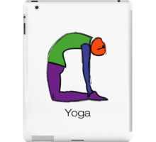 Painting of cobra yoga pose with yoga text. iPad Case/Skin