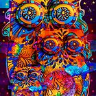 Radiant Owls  by © Karin Taylor