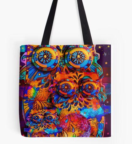 Radiant Owls  Tote Bag