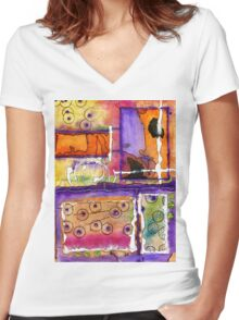 Cheery Thoughts - Warm Wishes Women's Fitted V-Neck T-Shirt