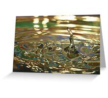 Droplet #65 Greeting Card