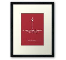 Learn From It Framed Print