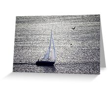 Sailing The Shimmery Sea Greeting Card