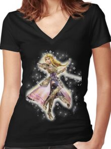Princess Zelda ~ Razzle Dazzle Women's Fitted V-Neck T-Shirt