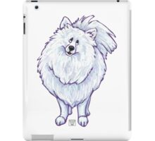 Animal Parade White Pomeranian Silhouette iPad Case/Skin