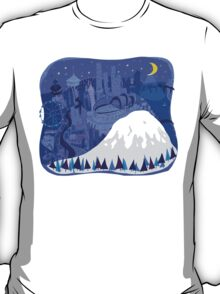 Seattle Cityscape with Mt. Rainier by Wendy Wahman T-Shirt