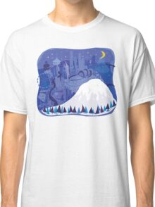 Seattle Cityscape with Mt. Rainier by Wendy Wahman Classic T-Shirt