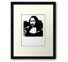 Frank Zappa Mona Lisa Framed Print