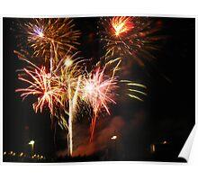 Fireworks Over Minneapolis Poster