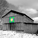 Barn with Quilt Pattern by Kent Nickell