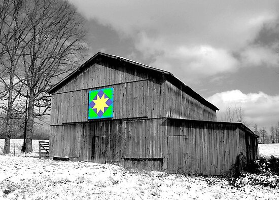 Kent Nickell  Portfolio  Barn with Quilt Pattern Quilt Patterns On Barns In Ky