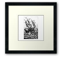 Attack of the Giant Octopus Framed Print