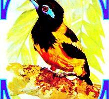 Ras Al Khaima Bird Print (Blue) by Go-Postal