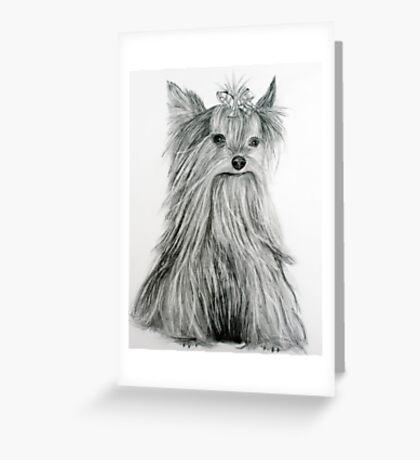 Yorkie Greeting Card