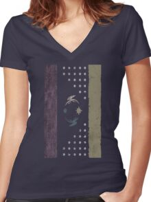 Faded Friendship (No Text) Women's Fitted V-Neck T-Shirt