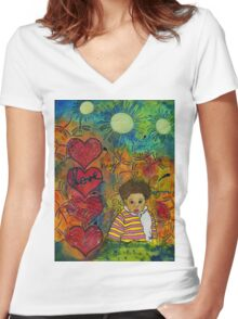... and Everything Nice Women's Fitted V-Neck T-Shirt