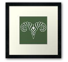 Skyrim Distressed Markarth Logo Framed Print