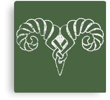 Skyrim Distressed Markarth Logo Canvas Print