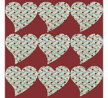 retro hearts Photographic Print