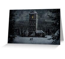 A light in the darkness Greeting Card