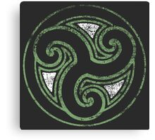 Skyrim Distressed Morthal Logo Canvas Print