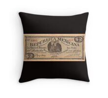 mexican vintage bill Throw Pillow