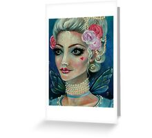 Marie Antoinette Faerie love love Greeting Card