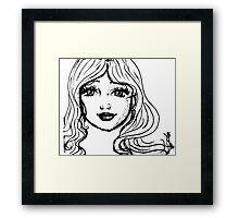 Black and White Girl Framed Print