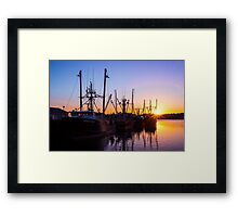 Evening At The Dock 1 Framed Print