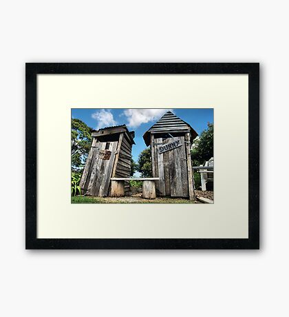His and hers dunnies Framed Print