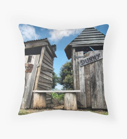 His and hers dunnies Throw Pillow