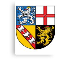 Saarland coat of arms Canvas Print