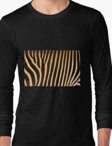 Grevy Zebra Design Long Sleeve T-Shirt
