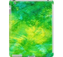 Abstract Spring Colors bright yellow, vivid green, & light blue iPad Case/Skin