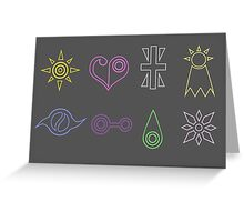 digimon crests Greeting Card