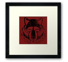 Skyrim Distressed Solitude Logo Framed Print