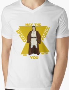 Speed Force Mens V-Neck T-Shirt