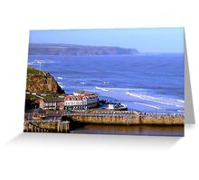 Distant Cliffs Greeting Card