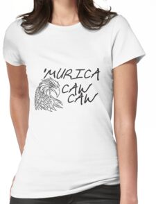 murica caw caw Womens Fitted T-Shirt