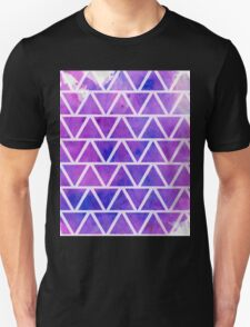 Purple Triangles  Unisex T-Shirt