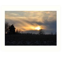 Another view of the amazing sunset 2/1/10 Art Print