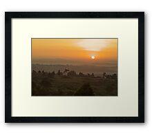Eastern Kampala Sunrise, Uganda Framed Print