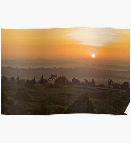 Eastern Kampala Sunrise, Uganda Poster