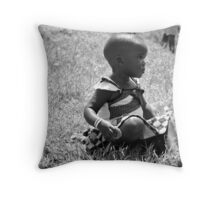 Deep In Thought - Uganda, Eastern Africa Throw Pillow