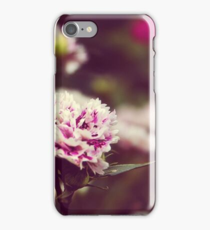 Pink carnations iPhone Case/Skin